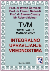 TVM (TOTAL VALUE MANAGEMENT) INTEGRALNO UPRAVLJANJE VREDNOSTIMA (Novi Sad, 2003) Izdavač i producent: Domla-Publishing, Novi Sad